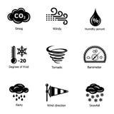 Marznięcie ikony ustawiać, prosty styl royalty ilustracja