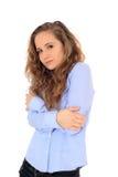 Marznięcie nastoletnia dziewczyna zdjęcie stock