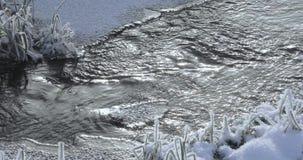 Marznięcie zatoczka w lodzie zbiory wideo