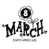 8 marzo Fotografia Stock Libera da Diritti
