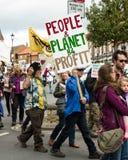 Marzo anti--Fracking - Malton - Ryedale - Yortkshire del nord - il Regno Unito Fotografia Stock