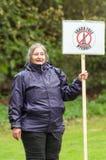 Marzo anti--Fracking - Malton - Ryedale - Yortkshire del nord - il Regno Unito Fotografia Stock Libera da Diritti