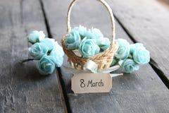 8 marzo carta Immagine Stock