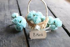 8 marzo carta Fotografia Stock