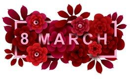 8 marzo Carta felice di giorno del ` s delle donne Fotografie Stock Libere da Diritti