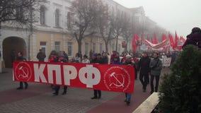 Marzo comunista in Orël video d archivio