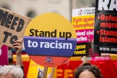 Marzo contra el racismo - Londres, Reino Unido fotos de archivo libres de regalías