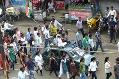 Marzo contra la corrupción en la India Imágenes de archivo libres de regalías