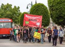 Marzo contro Monsanto jpg Fotografia Stock Libera da Diritti
