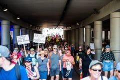 Marzo contro Racsim Tucson Fotografia Stock