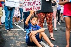 Marzo contro Racsim Tucson Fotografia Stock Libera da Diritti