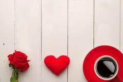 8 Marzo, cuore rosso Immagini Stock Libere da Diritti