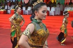 Marzo de la cultura del archipiélago - APEKSI 2018 en la ciudad de Tarakan Foto de archivo libre de regalías