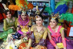 Marzo de la cultura del archipiélago - APEKSI 2018 en la ciudad de Tarakan Fotografía de archivo libre de regalías