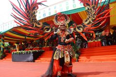 Marzo de la cultura del archipiélago - APEKSI 2018 en la ciudad de Tarakan Foto de archivo