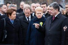 Marzo de la dignidad en Kyiv Fotos de archivo libres de regalías