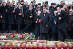 Marzo de la dignidad en Kyiv Imagen de archivo