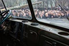 Marzo de la dignidad en Kyiv Foto de archivo libre de regalías