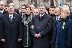 Marzo de la dignidad en Kyiv Foto de archivo