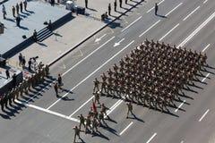 Marzo de la independencia en Kiev Imágenes de archivo libres de regalías