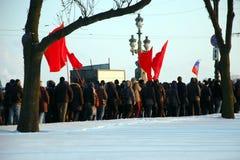 Marzo de la libertad en St Petersburg Imagenes de archivo