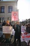 Marzo de la solidaridad del ` s de las mujeres Foto de archivo libre de regalías