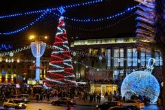Marzo de Santa Claus Bielorrusia 2018 Minsk fotos de archivo libres de regalías