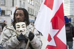 Marzo dei dimostranti di Londra Fotografia Stock