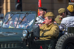 Marzo del regimiento inmortal, sincronizado al 71.o aniversario de la victoria en la gran guerra patriótica Fotos de archivo libres de regalías