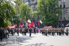 01.05.2014 marzo della giustizia a Kiev. Il giorno dei lavoratori internazionali (anche conosciuto come la festa dei lavoratori) Fotografie Stock Libere da Diritti