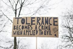 Marzo delle donne per tolleranza Fotografia Stock