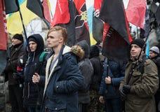 Marzo di dignità nazionale in Kyiv Immagini Stock Libere da Diritti