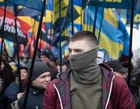 Marzo di dignità nazionale in Kyiv Fotografia Stock