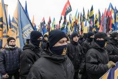 Marzo di dignità nazionale in Kyiv Immagini Stock