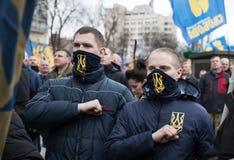 Marzo di dignità nazionale in Kyiv Fotografie Stock Libere da Diritti