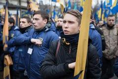 Marzo di dignità nazionale in Kyiv Immagine Stock