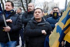 Marzo di dignità nazionale in Kyiv Fotografie Stock