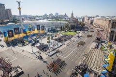 Marzo di indipendenza a Kiev Fotografia Stock Libera da Diritti