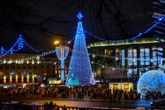 Marzo di Santa Claus Bielorussia 2018 Minsk fotografia stock libera da diritti
