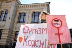 Marzo di solidarietà del ` s delle donne Fotografia Stock