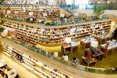 29 marzo 2019, eastville centrale di festival, Bangkok Tailandia La biblioteca e la libreria moderne decorano bello fotografia stock libera da diritti
