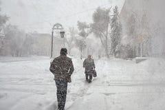 Marzo en la república de Khakassia Fotos de archivo libres de regalías