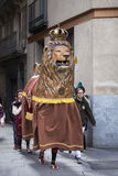 22 marzo 2015 Festival di Castellers a Barcellona (Spagna) Fotografia Stock Libera da Diritti