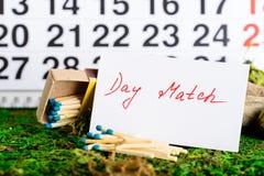 2 marzo, giorno della partita sul calendario Immagine Stock