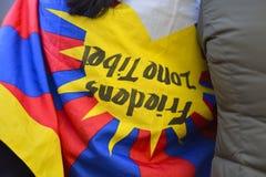 10 marzo giorno 2017 della rivolta nel Tibet, Berna switzerland Fotografie Stock Libere da Diritti