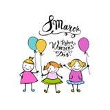 8 marzo Giorno felice delle donne royalty illustrazione gratis