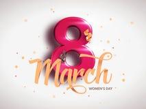 8 marzo Giorno internazionale del ` s della donna Giorno felice del `s della madre illustrazione vettoriale