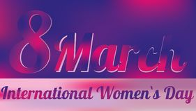 8 marzo - giorno internazionale del `s delle donne Fotografia Stock