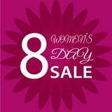 8 marzo giorno internazionale del ` s delle donne Cartolina d'auguri Fotografia Stock