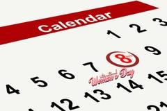 8 marzo giorno internazionale del ` s delle donne, elemento creativo di progettazione di giorno del ` s delle donne Fotografia Stock Libera da Diritti